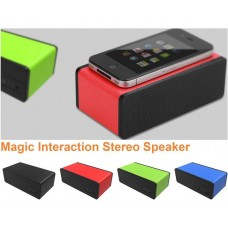 Portable Mini Wireless Magic iPhone Speakers Mutual Electromagnetic Induction Amplifier Speakers for iPhone 5s 5 4s HTC Samsung and all other phones & digital media device, built-in lithium polymer battery gives up to 30 hours of play time - 6 Colors