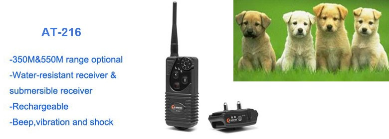 AT-216 Electronic training shock collar for 2dogs